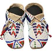 Native American Indian Sioux Man's Moccasins