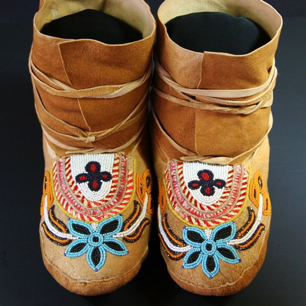 Vintage Native American Subarctic Quilled Amp Beaded
