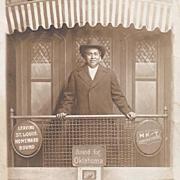 Native American Real Photograph Postcard of Native Man on Train
