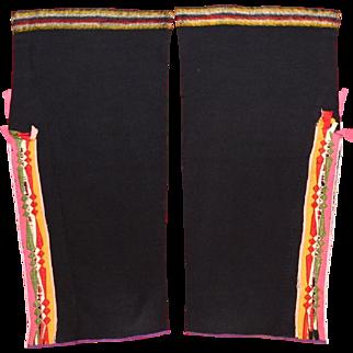 Native American Osage Woman's Double Sided Ribbonwork Leggings