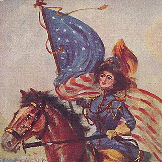 Pride of The Cavalry Western Post Card
