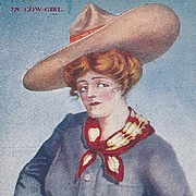 Post Card Titled Cow-Girl