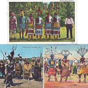 Native American Apache Gan or Mountain Spirit Dancers Post Cards 4 Cards