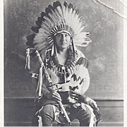 Native American Pawnee Chief Photograph