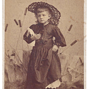Photograph Girl With China Head Doll