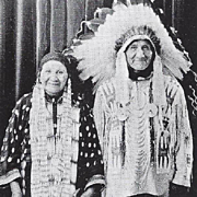 REAL PHOTO POSTCARD OF SIOUX NATIVE AMERICANS