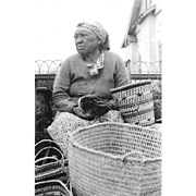 RPPC NATIVE AMERICAN BASKET MAKER