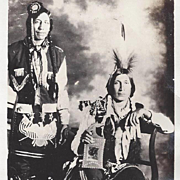Native American Indian Real Photo Postcard Two Ponca Men