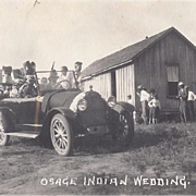 Native American Real Photo by Dillon of Osage Wedding