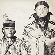 Native American Indian Real Photo Post Card of Osage Couple