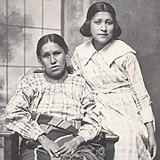 Native American Indian Photograph Osage Mother and Daughter