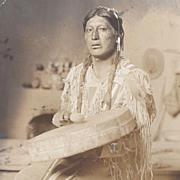RPPC Native American Indian Taos Pueblo Drummer