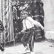 Real Photo Postcard of Two Native American Boy Dancers