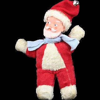 Vintage 50's Vinyl Faced Stuffed Santa Claus