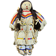 Native American Indian Cheyenne, Sioux or Lakota Small or Miniature Doll