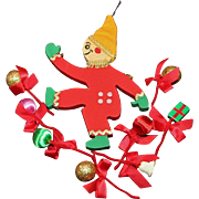 Wooden Toy Soldier, Gingerbread Man or Elf and 8 Pipe Cleaner Decorations
