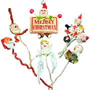 Pipe Cleaner Decorations Elves, Angels and Wooden Santa Sign