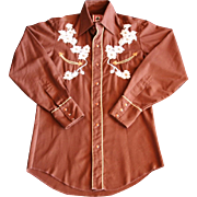 Vintage Western Chute 1 Floral Embroidered Shirt