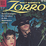 Zorro, Dell 1959, No. 1037 Silver Age Comic Book, Walt Disney