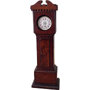 Antique Victorian miniature grandfather clock case ideal for display with dolls! Circa 1870