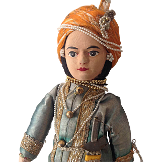 Sweet vintage Indian doll in wonderful costume!