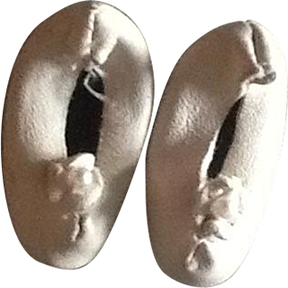 Sweet vintage leather dolls slippers