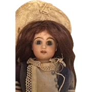 Pretty antique French tete Jumeau doll size 1 open mouth