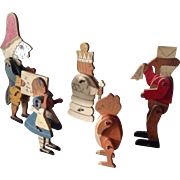 Rare antique Talfourd Alice in Wonderland figures