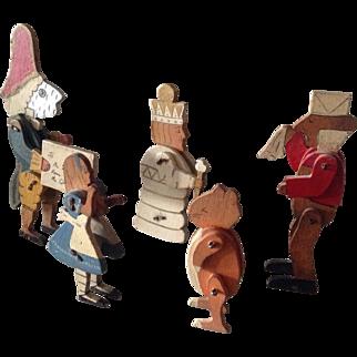 Rare antique Talfourd Alice in Wonderland figures