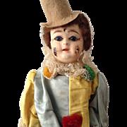 Rare French paper mâché Eden Clown in original box circa 1890