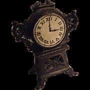 Antique metal dolls house clock