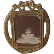 Antique metal dolls house picture/frame