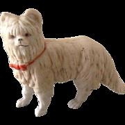 Antique bisque dolls house dog