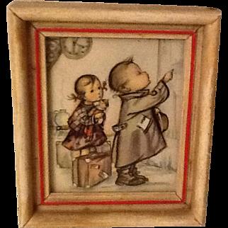Vintage Hummel framed picture