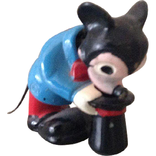 Vintage early nodding Mickey Mouse toy