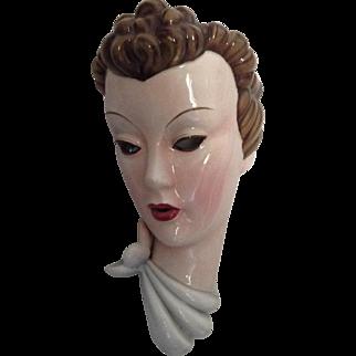 Beautiful Art Deco wall mask by Stefan Dakon for Keramos