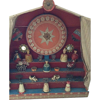 Wonderful French late 19th century lotto bazaar stall- very rare!