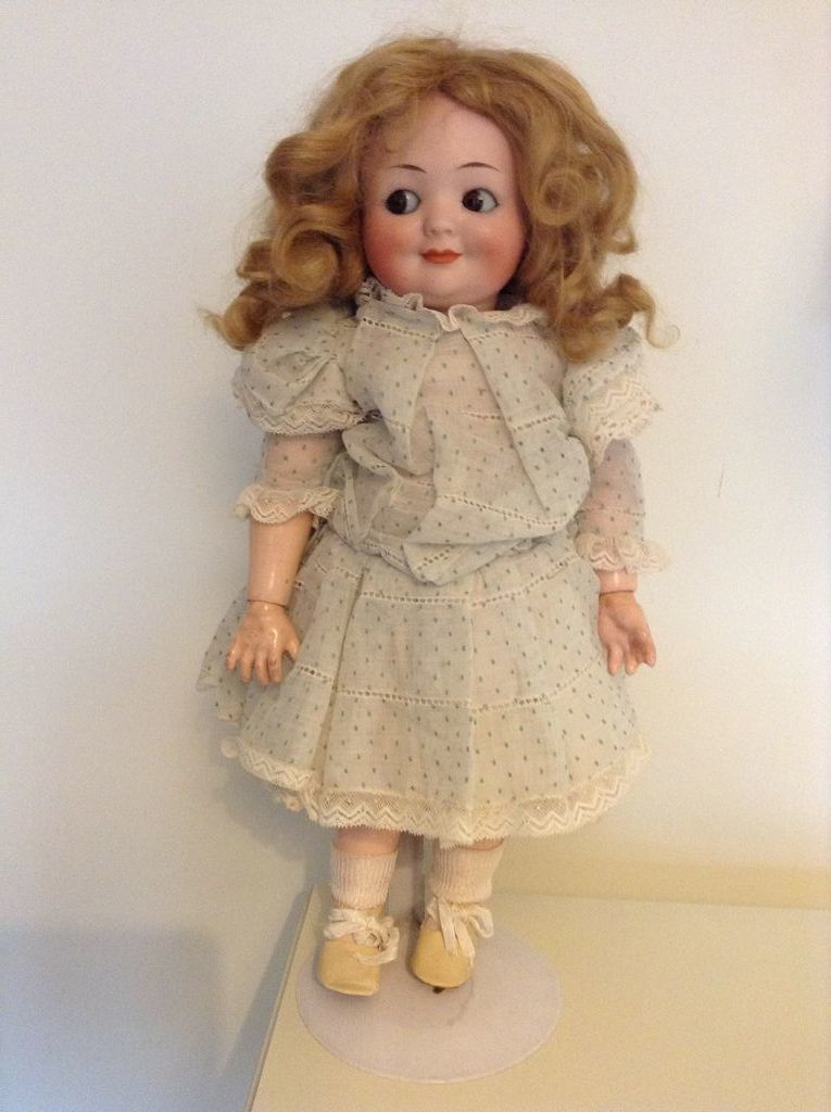 Beautiful And Very Rare Antique Googly Doll 14 Inches Tall