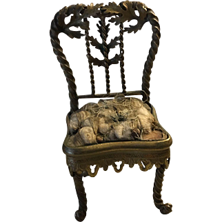 Beautiful antique French 19th century dolls chair