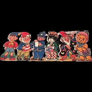 Vintage noddy paper characters- printed in England