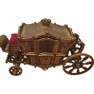Stunning luxury French wooden carved Royal Coach