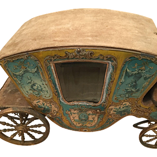 Pretty antique French Cinderella coach