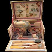 Very rare beautiful antique child's stationary set all original circa 1900