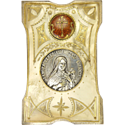 French Art Deco  St Thérèse of Lisieux Decorative Standing Plaque