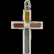 Victorian Scottish Silver Cross Pendant