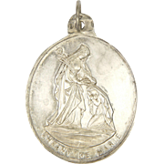 French 1875 Silver 'Child of Mary' Medal