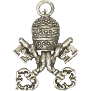 European 800-900 Silver Papal Insignia Pendant