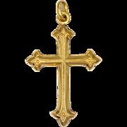 French 18K Gold FIlled Cross Pendant - MURAT