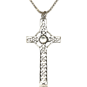 Sterling Silver Celtic Cross and Chain
