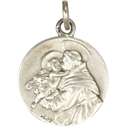 French St Anthony and Christ Child Silver Medal